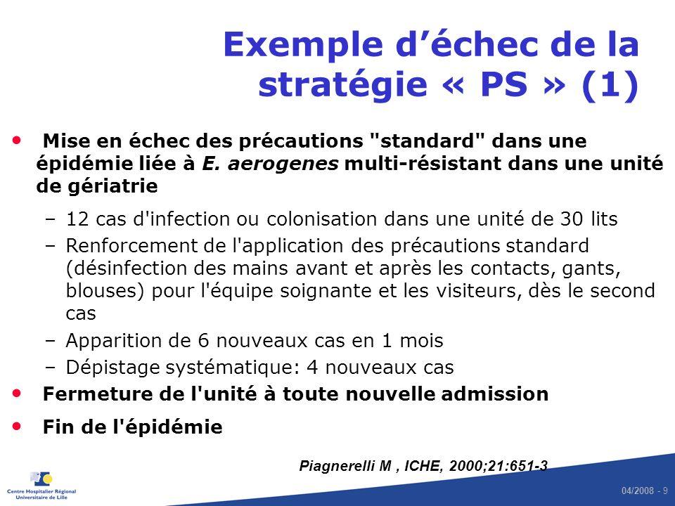 Exemple d'échec de la stratégie « PS » (1)
