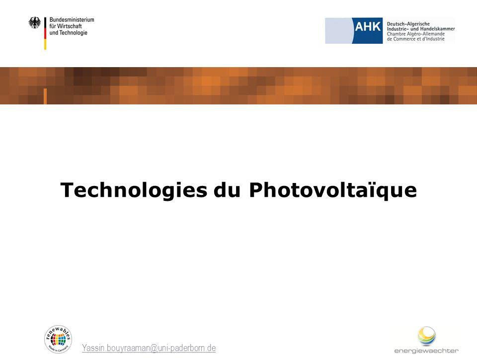 Technologies du Photovoltaïque