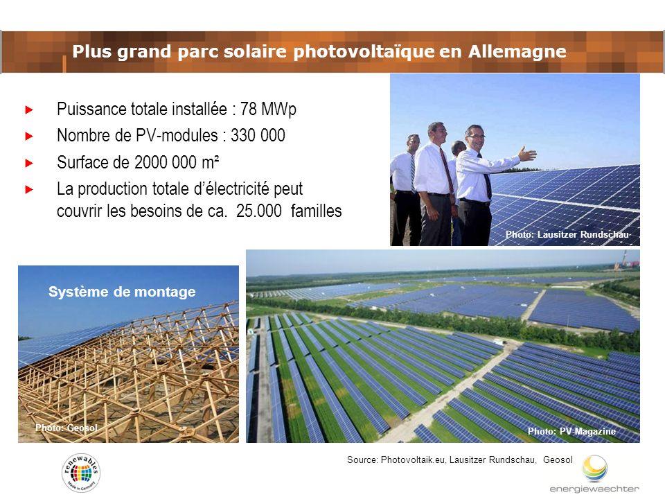 Plus grand parc solaire photovoltaïque en Allemagne