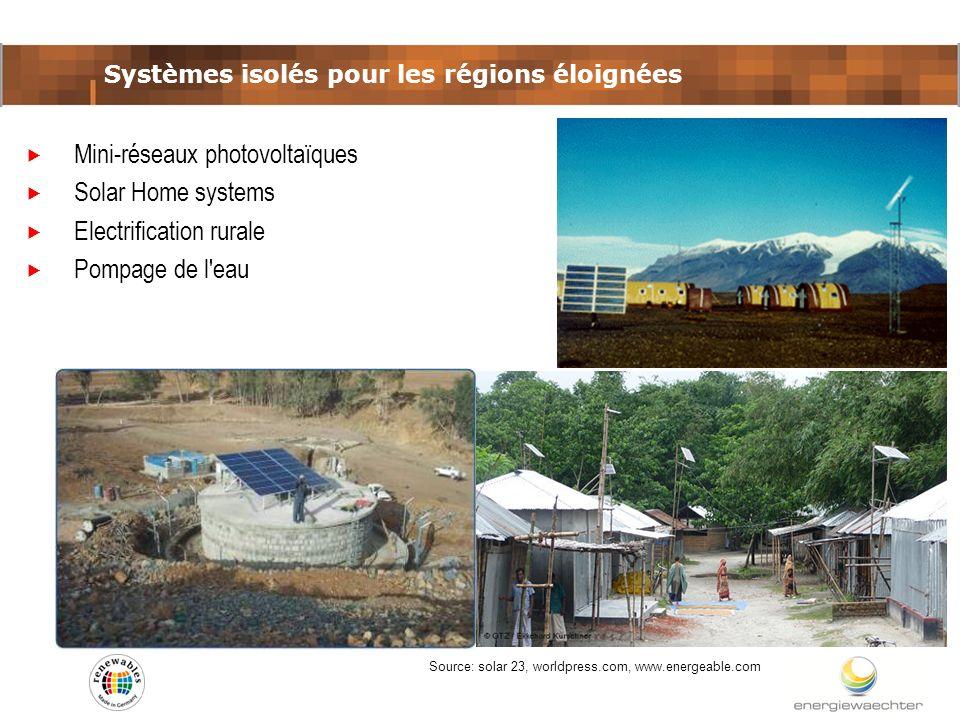 Systèmes isolés pour les régions éloignées