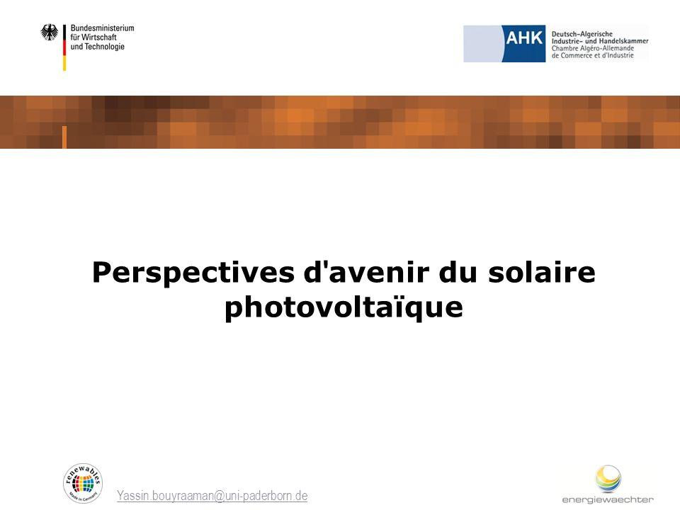 Perspectives d avenir du solaire photovoltaïque