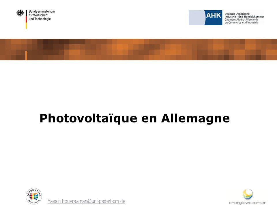 Photovoltaïque en Allemagne
