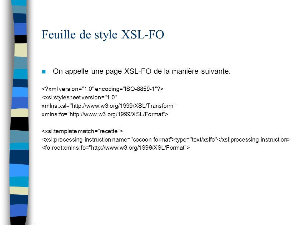 Feuille de style XSL-FO