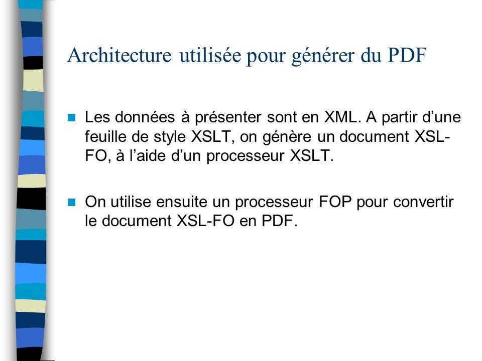 Architecture utilisée pour générer du PDF
