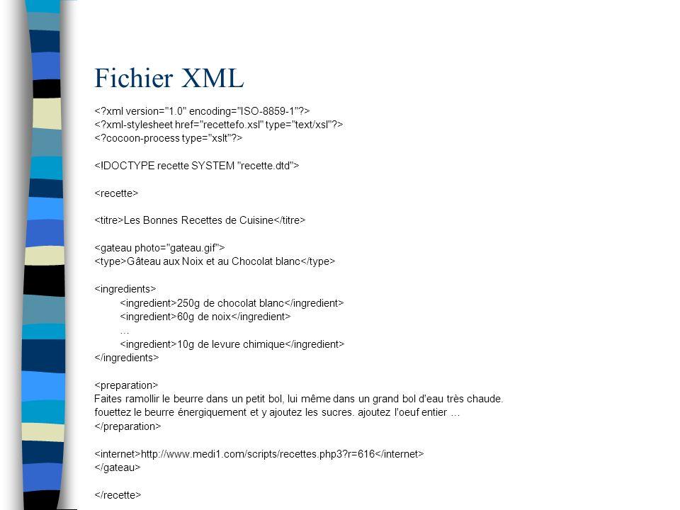 Fichier XML < xml version= 1.0 encoding= ISO-8859-1 >