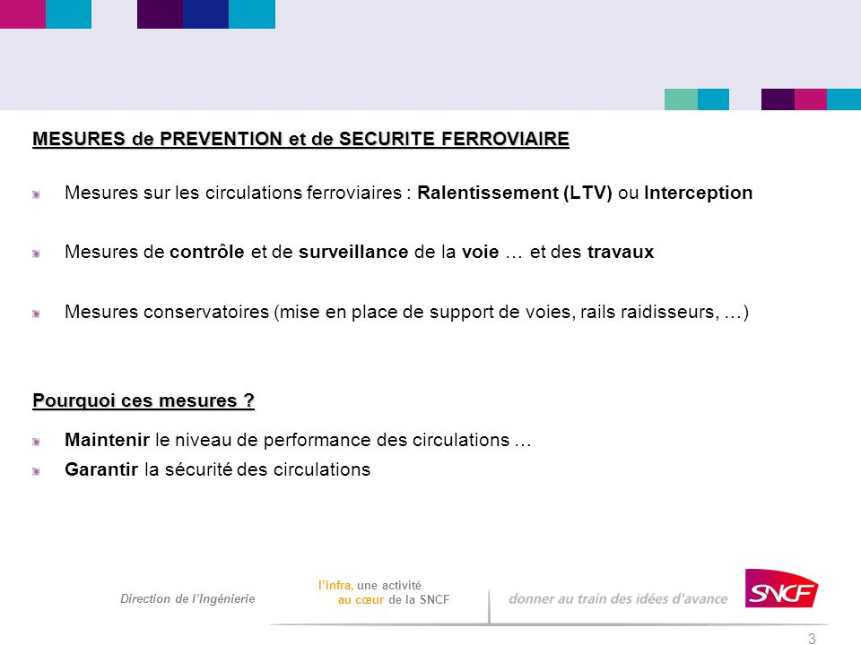 MESURES de PREVENTION et de SECURITE FERROVIAIRE