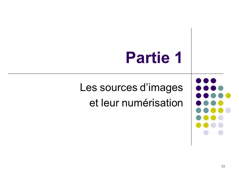 Les sources d'images et leur numérisation