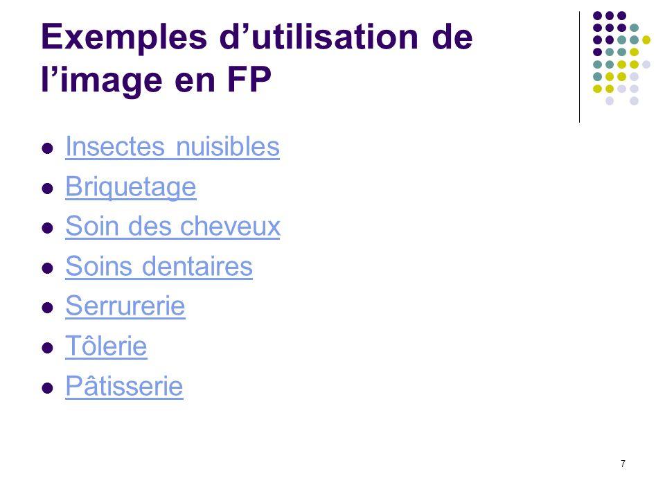 Exemples d'utilisation de l'image en FP