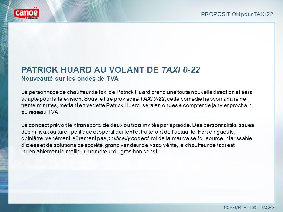 PATRICK HUARD AU VOLANT DE TAXI 0-22