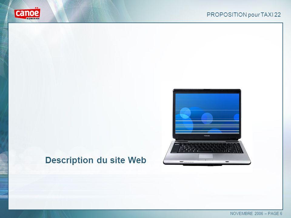 Description du site Web