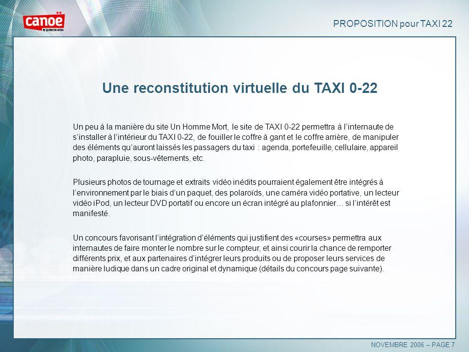 Une reconstitution virtuelle du TAXI 0-22