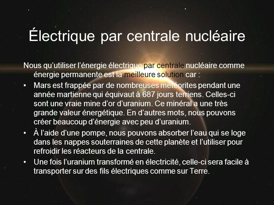Électrique par centrale nucléaire