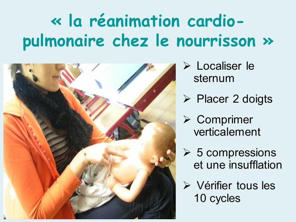 « la réanimation cardio-pulmonaire chez le nourrisson »