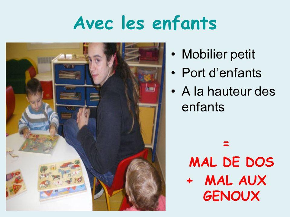 Avec les enfants Mobilier petit Port d'enfants
