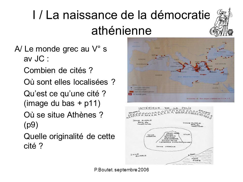 I / La naissance de la démocratie athénienne