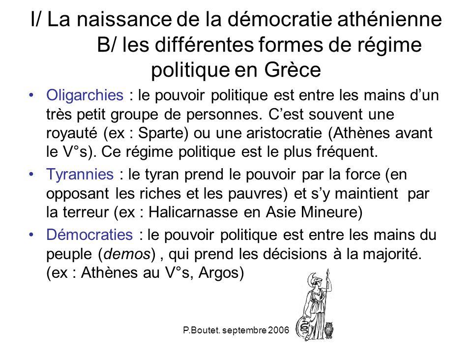 I/ La naissance de la démocratie athénienne