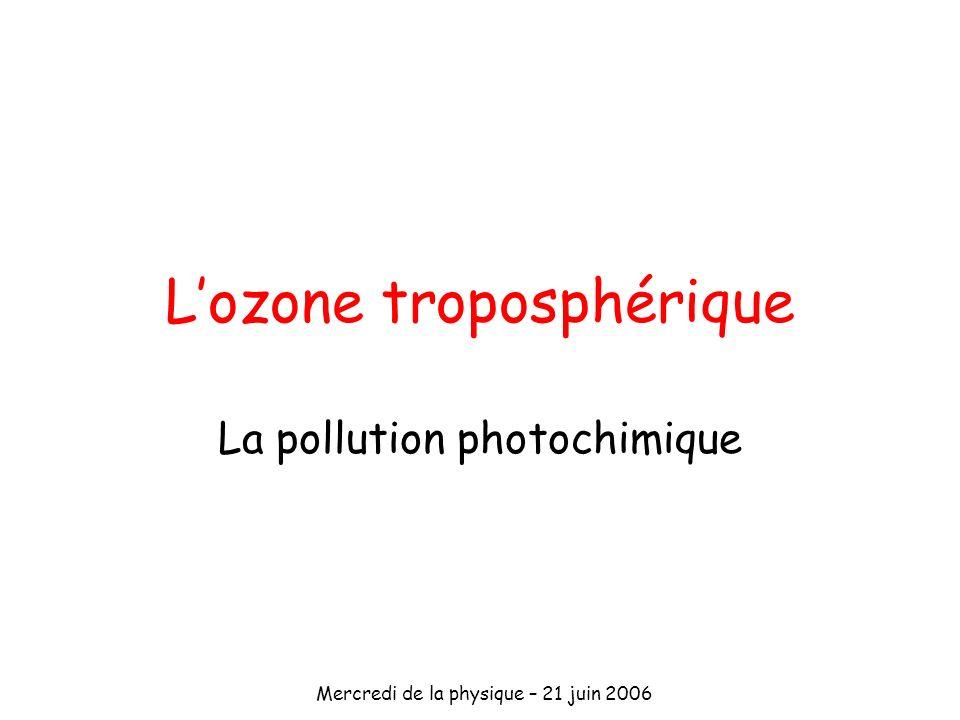 L'ozone troposphérique