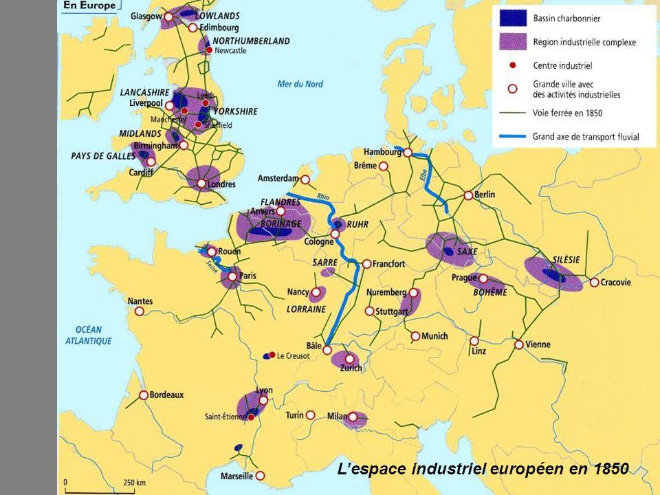 L'espace industriel européen en 1850