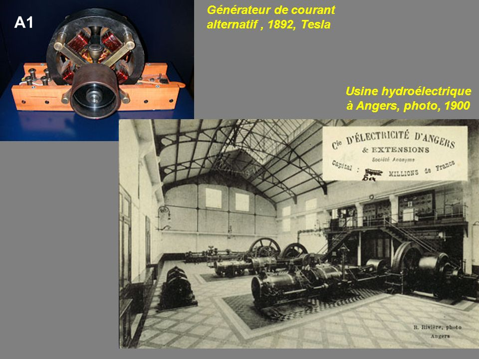Usine hydroélectrique à Angers, photo, 1900