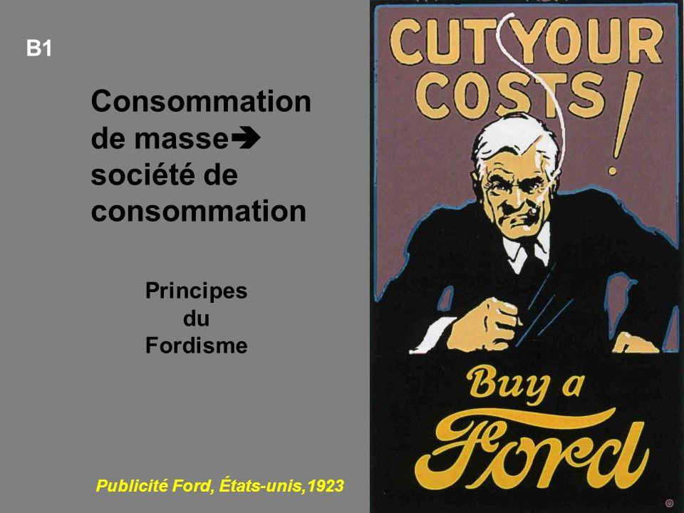 Consommation de masse société de consommation