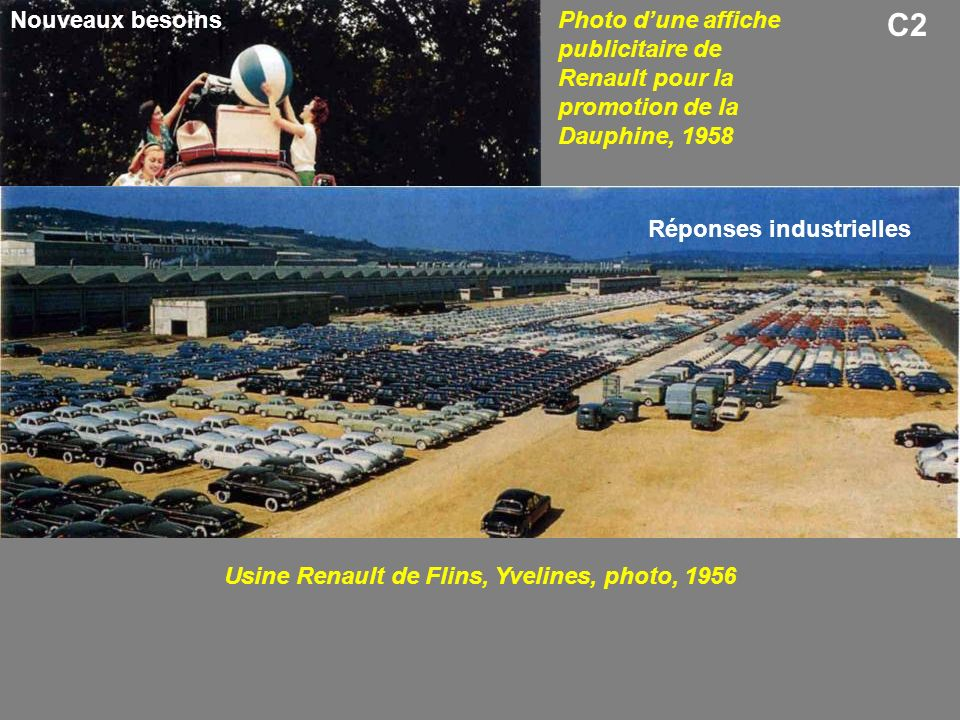 Usine Renault de Flins, Yvelines, photo, 1956
