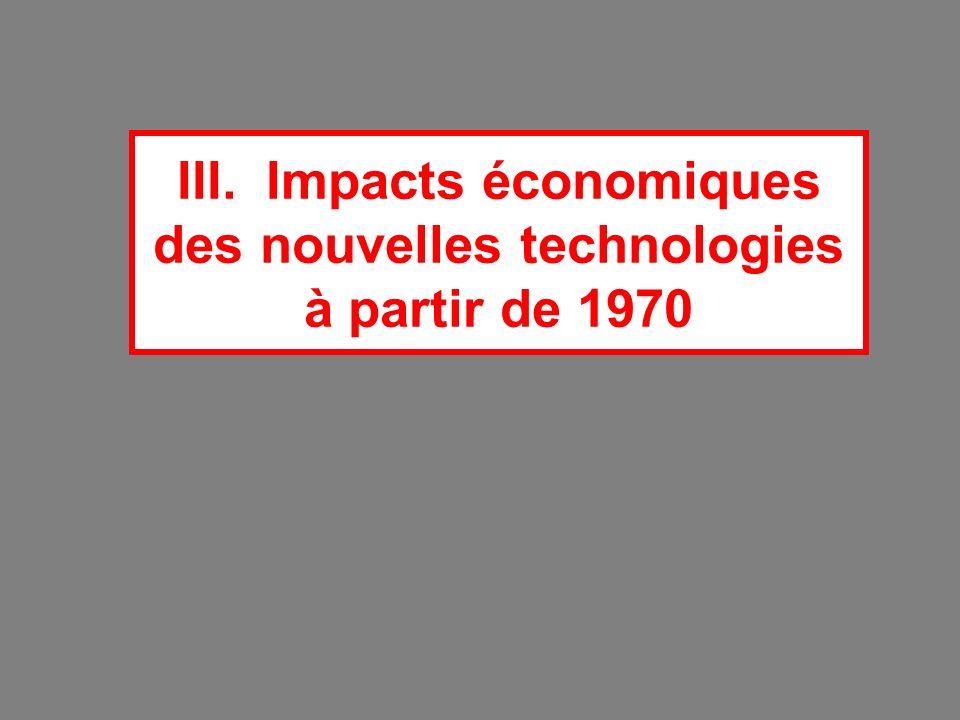 III. Impacts économiques des nouvelles technologies à partir de 1970