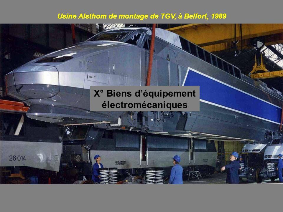 X° Biens d'équipement électromécaniques