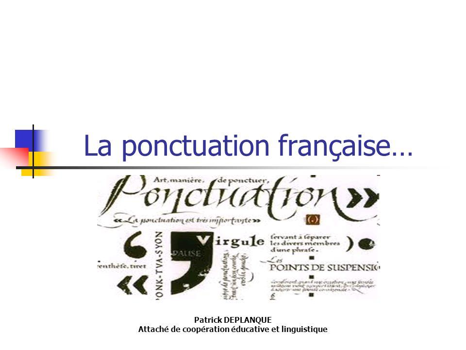La ponctuation française…