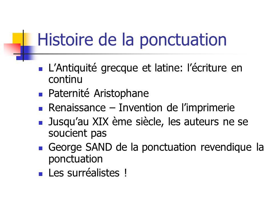 Histoire de la ponctuation