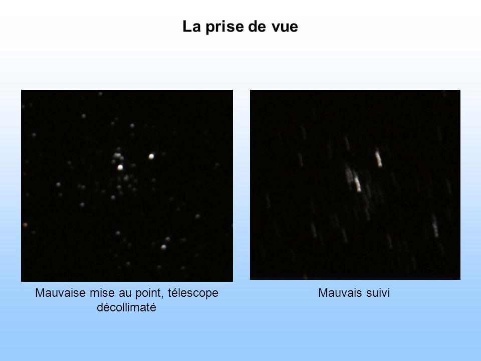 Mauvaise mise au point, télescope décollimaté