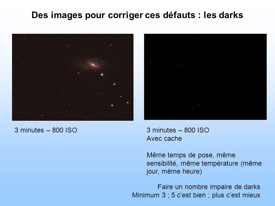 Des images pour corriger ces défauts : les darks