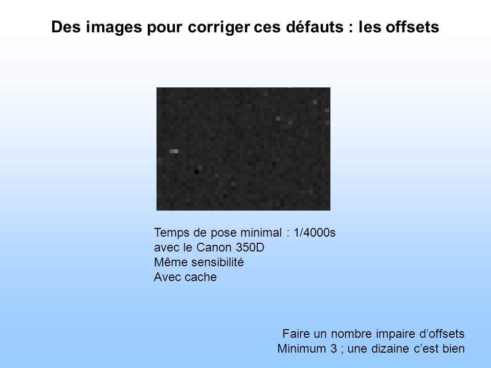 Des images pour corriger ces défauts : les offsets