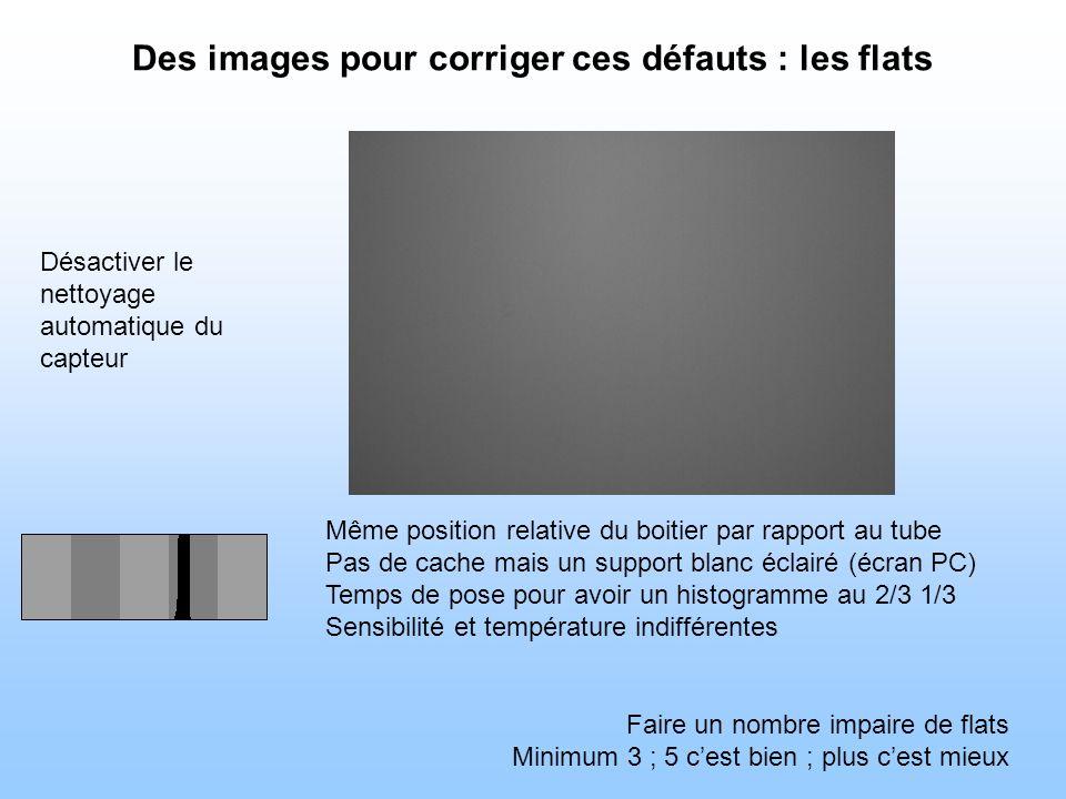 Des images pour corriger ces défauts : les flats