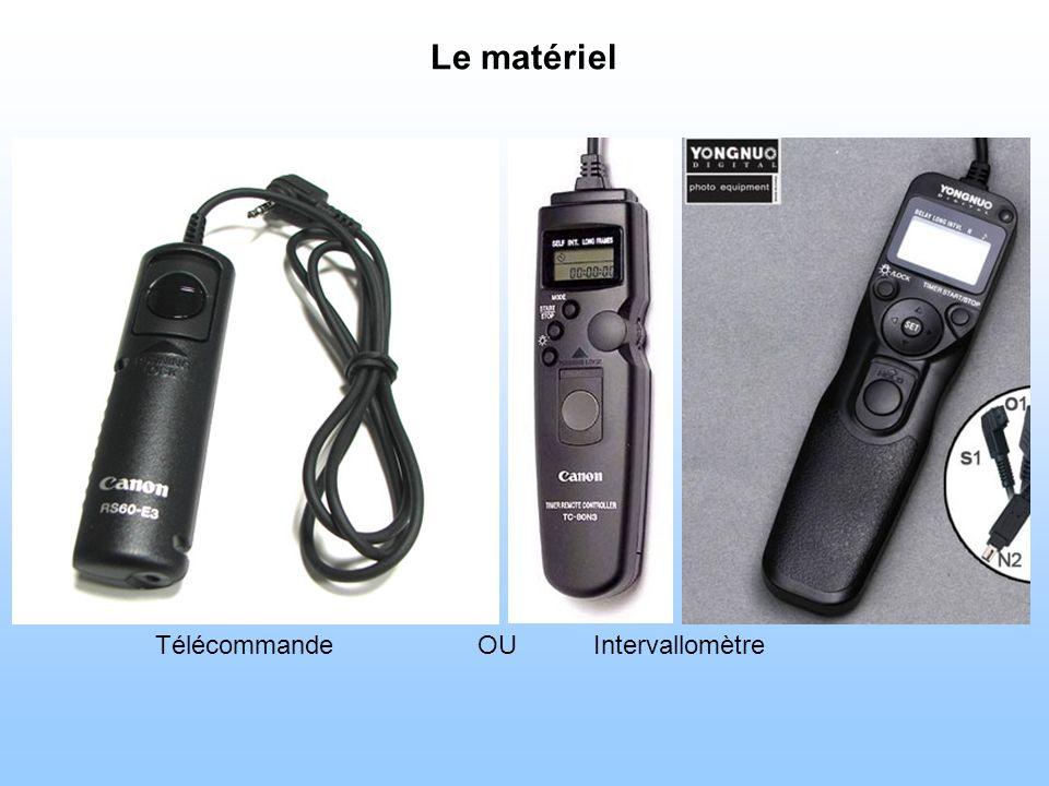 Le matériel Télécommande OU Intervallomètre