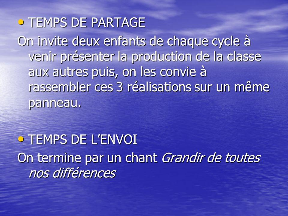 TEMPS DE PARTAGE