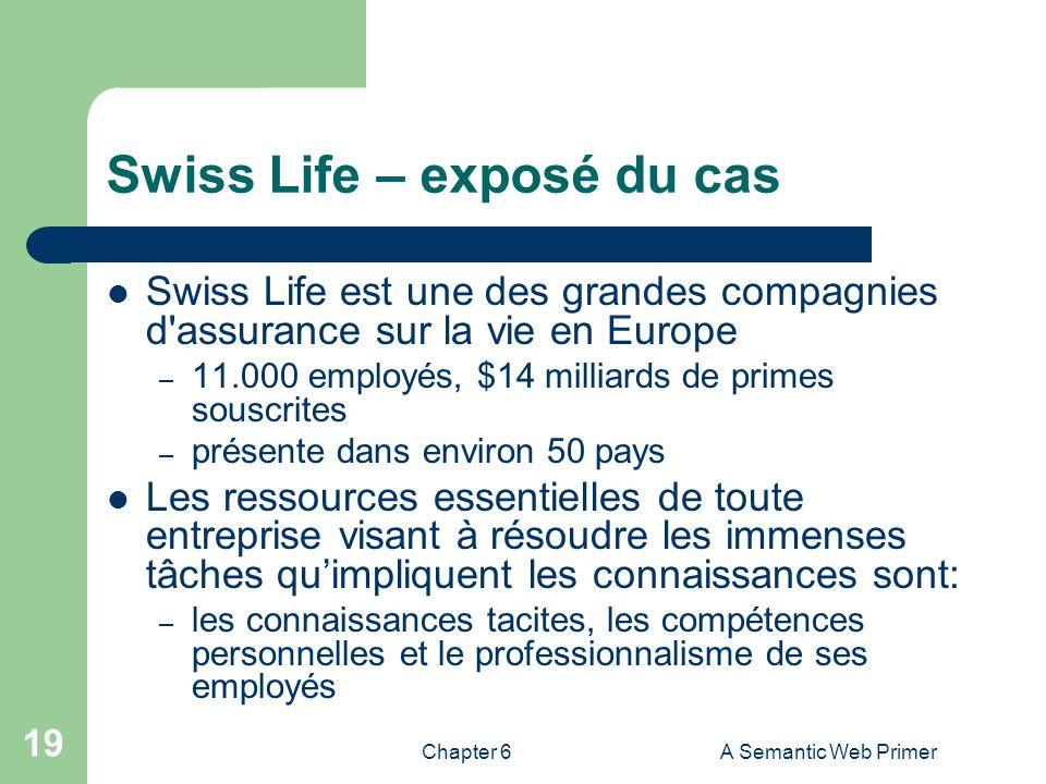 Swiss Life – exposé du cas