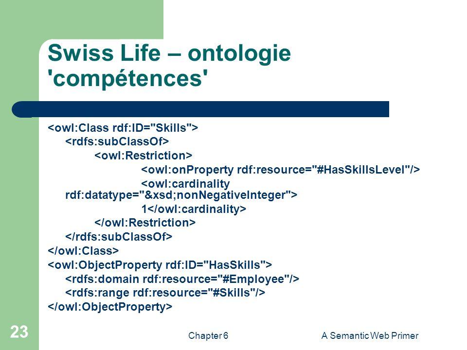 Swiss Life – ontologie compétences