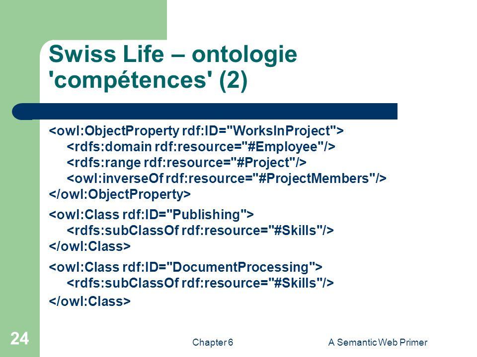 Swiss Life – ontologie compétences (2)
