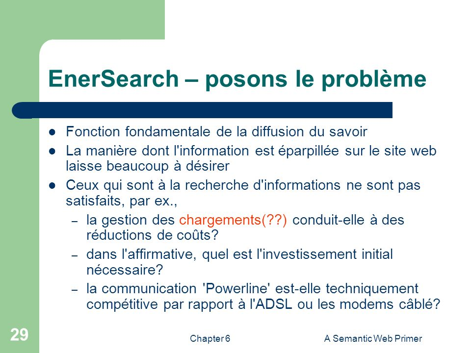 EnerSearch – posons le problème