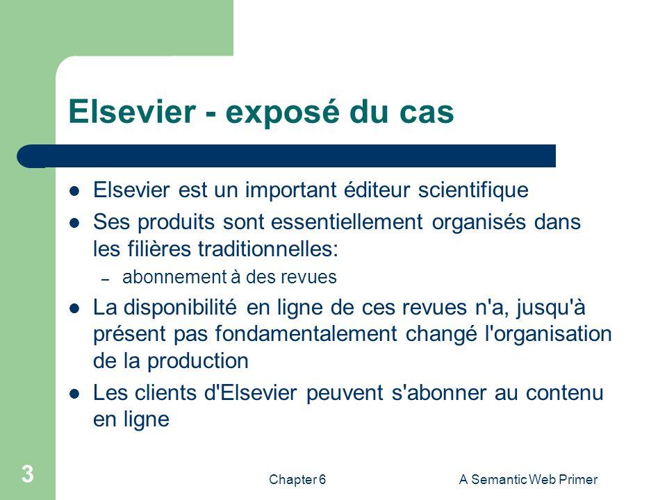 Elsevier - exposé du cas