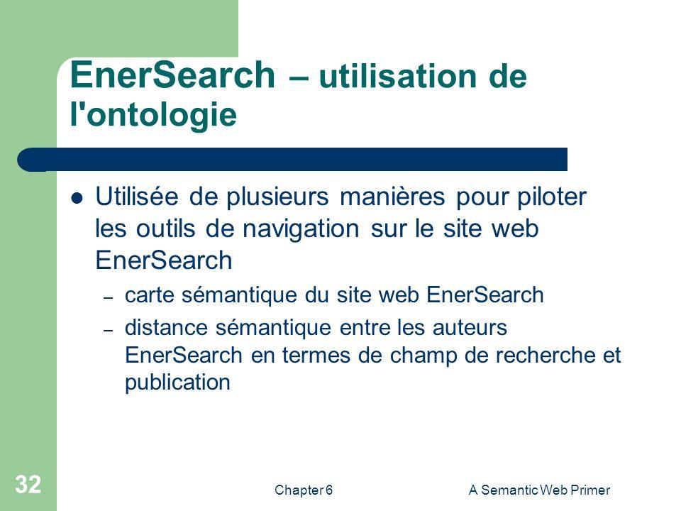 EnerSearch – utilisation de l ontologie