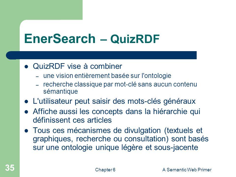 EnerSearch – QuizRDF QuizRDF vise à combiner