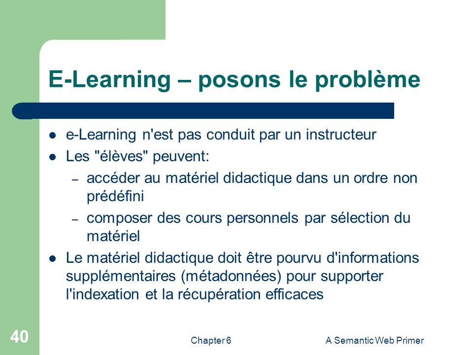 E-Learning – posons le problème