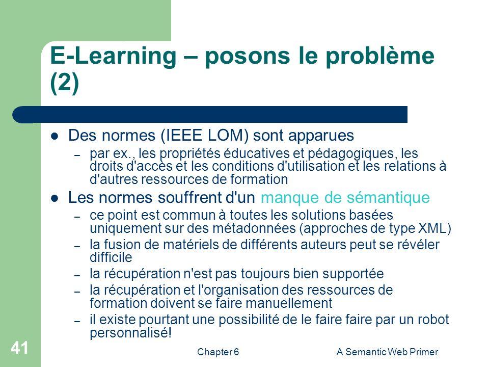 E-Learning – posons le problème (2)