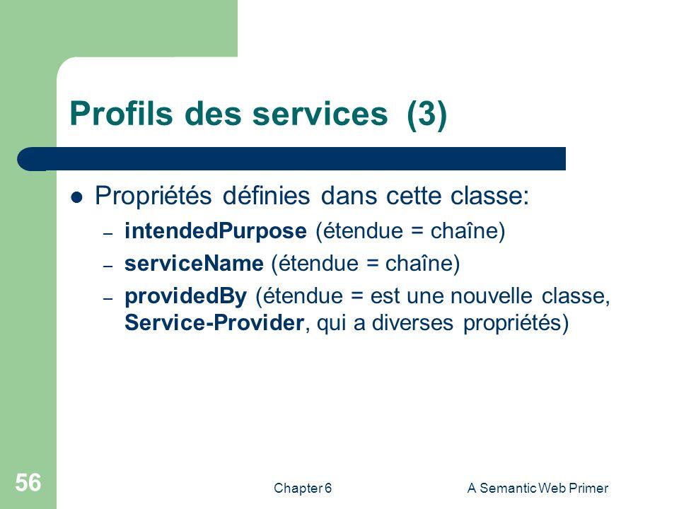 Profils des services (3)
