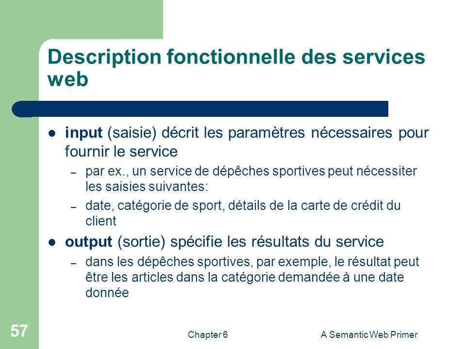 Description fonctionnelle des services web