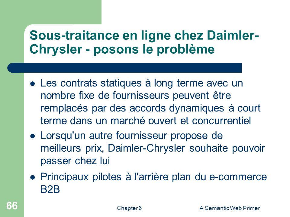 Sous-traitance en ligne chez Daimler-Chrysler - posons le problème