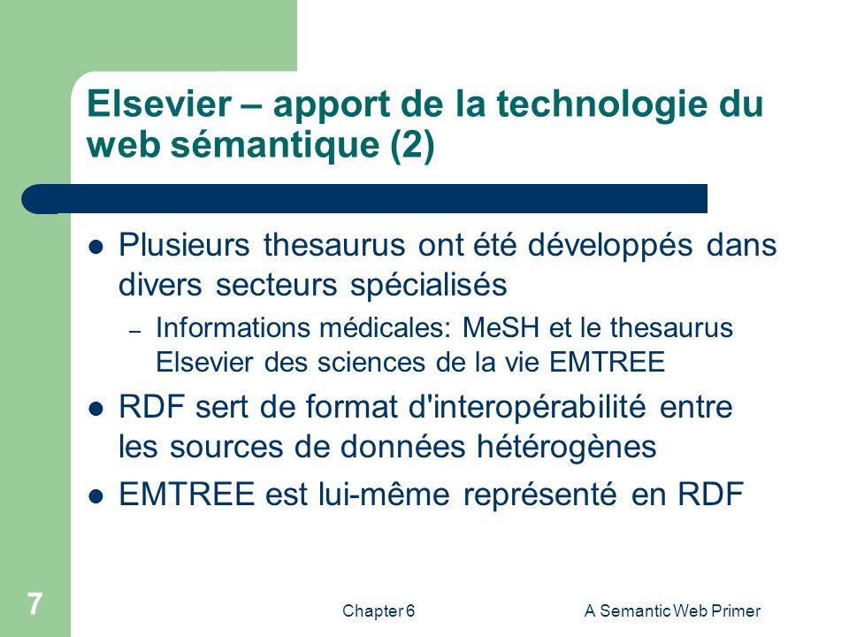Elsevier – apport de la technologie du web sémantique (2)