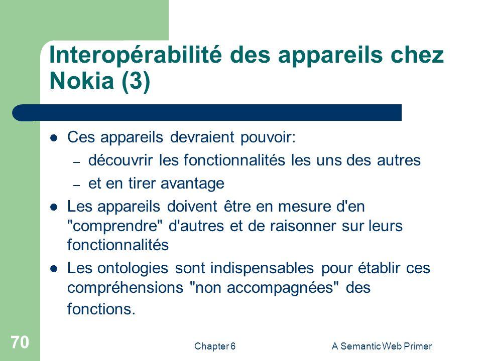 Interopérabilité des appareils chez Nokia (3)