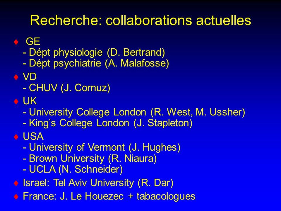 Recherche: collaborations actuelles